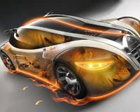 Abstract 3D Printed Car
