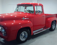 1956 Ford F 100 Red