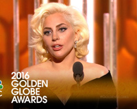 Lady Gaga Golden Globes 2016 Nbc