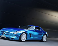 Mercedes Benz SLS Cool Blue