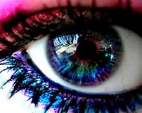 3D Colored Eyes